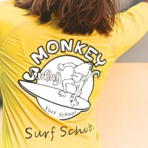 rashvest monkey surf school in lembongan