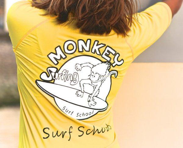 rashvest monkey surf school in lembongan