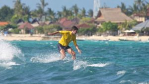 tropical colors during beginner surf lesson